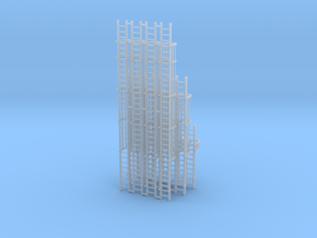 'HO Scale' - Variety Pack of Caged Ladder in Frosted Ultra Detail