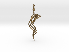 The Vision - Earring/Pendant in Natural Bronze
