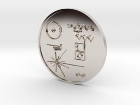 Voyager I Golden Record Medal in Platinum