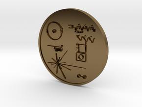 Voyager I Golden Record Medal in Polished Bronze