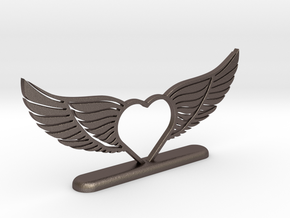 Wing-02 Accessory in Polished Bronzed Silver Steel