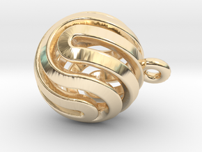 Ball-smaller-14-4 in 14k Gold Plated Brass