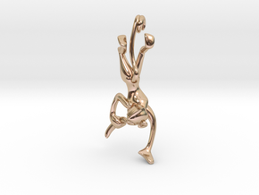3D-Monkeys 016 in 14k Rose Gold Plated Brass