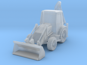 Backhoe Loader 01. Z Scale (1:220) in Smooth Fine Detail Plastic