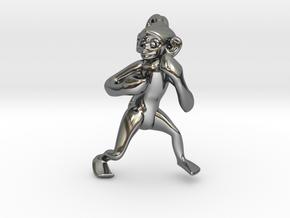 3D-Monkeys 067 in Fine Detail Polished Silver