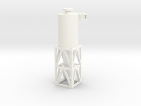 HO/TT Scale Cyclone Filter in White Processed Versatile Plastic