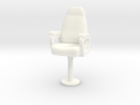 1/18 USN Capt Navy Chair in White Processed Versatile Plastic