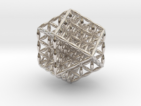 Flower Of Life Vector Equilibrium in Platinum