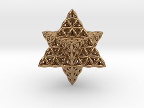 Flower Of Life Star Tetrahedron in Polished Brass