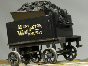 Cog Railway Tender - O Scale  in Smooth Fine Detail Plastic