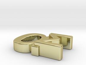 Aspie Symbol in 18k Gold Plated Brass