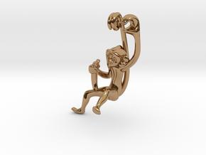3D-Monkeys 139 in Polished Brass