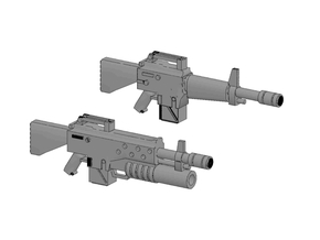 28mm NAM16 Assault Rifles (10) in Frosted Ultra Detail