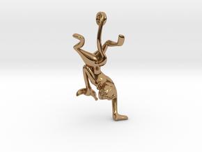 3D-Monkeys 150 in Polished Brass