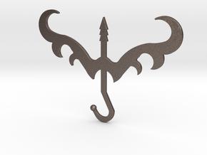 Sagittarius in Polished Bronzed Silver Steel