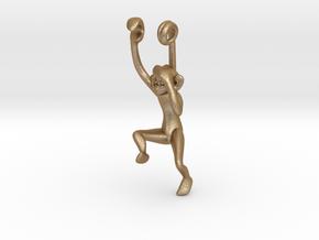 3D-Monkeys 171 in Matte Gold Steel
