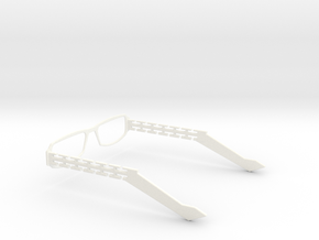 Glasses - Type2 in White Strong & Flexible Polished
