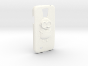 Galaxy S4 Minion Phone case in White Strong & Flexible Polished