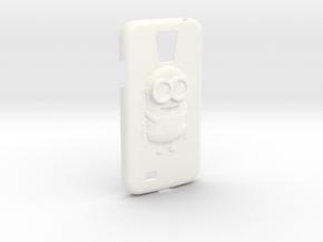 Galaxy S4 Minion Phone case in White Processed Versatile Plastic
