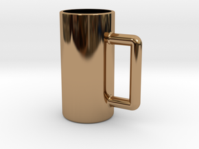 Excessive drinking cup in Polished Brass