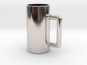 Excessive drinking cup in Rhodium Plated Brass