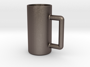 Excessive drinking cup in Polished Bronzed Silver Steel