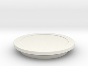 Modeling Coasters in White Natural Versatile Plastic