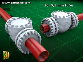 Pipeline Accessory System Valve3 - 9,5mm in Smooth Fine Detail Plastic