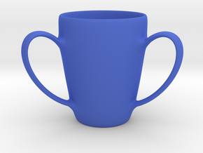Coffee mug #2 - 3 Handles in Blue Processed Versatile Plastic