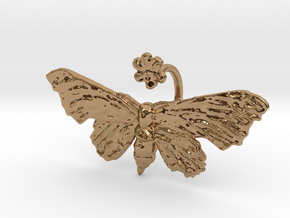 Fantasy Moth Ring size 7 in Polished Brass