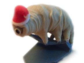 Santa Tardigrade in Full Color Sandstone