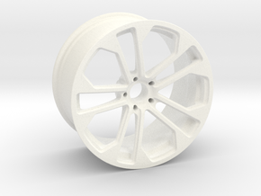 Sport Wheels in White Processed Versatile Plastic