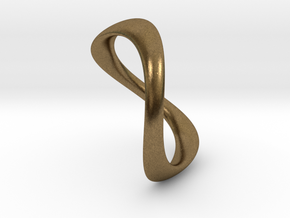 Ring Wave light   t 8   18mm in Natural Bronze