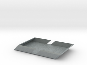 Angle Wallet in Polished Metallic Plastic