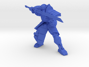 Robot Skeleton Samurai 02 in Blue Processed Versatile Plastic