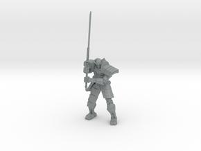 Robot Samurai Skeleton 01 in Polished Metallic Plastic