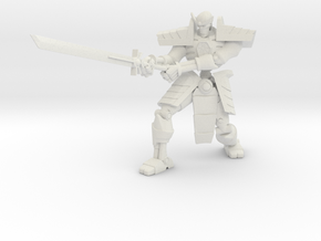 Robot Skeleton Samurai 05 in White Natural Versatile Plastic