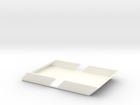 Angle Wallet-Smooth in White Processed Versatile Plastic