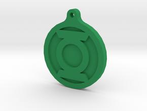 Green Lantern Key Chain in Green Processed Versatile Plastic