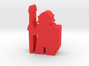 Game Piece, Roman Soldier in Red Processed Versatile Plastic