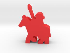 Game Piece, Roman Cavalry in Red Processed Versatile Plastic