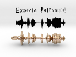 """Expecto Patronum"" - Harry Potter Waveform Pendant in 14k Gold Plated Brass"