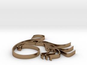 Three-legged in Raw Brass