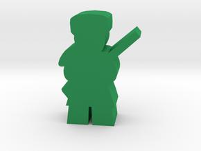 Game Piece, Frontiersman, Trapper in Green Processed Versatile Plastic