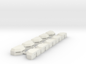 Mini Bunker #3 Set of 10 in White Natural Versatile Plastic