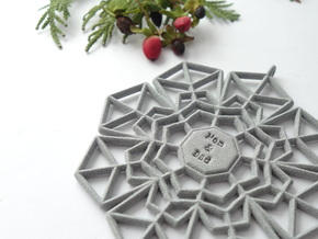 Peppermint Snowflake in Polished Metallic Plastic
