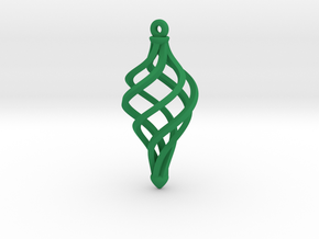 Orecchino Elica Sez Quadra in Green Strong & Flexible Polished