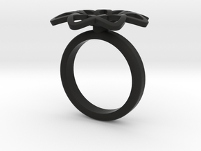 Anello Petali Singolo in Black Natural Versatile Plastic