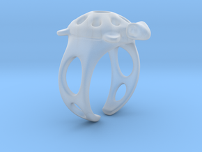 Turtle Ring 2 in Smoothest Fine Detail Plastic