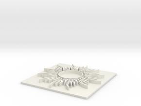 Sun1 (8 inch) in White Natural Versatile Plastic
